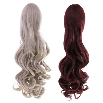 MagiDeal 2x High-temperature Wire Curly Wig Hair for 18'' American Girl Doll