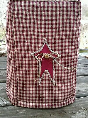 Can Opener Cover Burgundy Star Americana Fabric Quilted