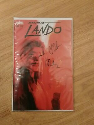 Star Wars Lando #1 Maleev Exclusive Variant - Signed by C.Soule AND A.Maleev