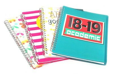 2018-2019 A5 Academic Week to View Diary Wiro / Spiral PVC Cover Mid Year WTV