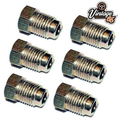 6 X MALE BRAKE FITTINGS NUTS 10mm X 1 3/16 FEMALE UNIONS PIPE COPPER