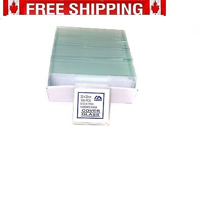 72 Blank Microscope Slides and 100 Square Cover Glass by CB [BS-72P-S100-22]