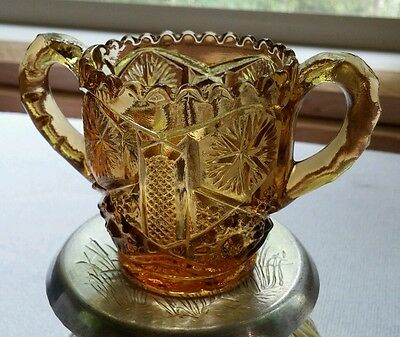 Imperial Glass Amber Toothpick Holder 1950's