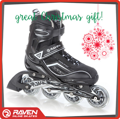 Black Inline Skates Roller Blades Adjustable Sizes