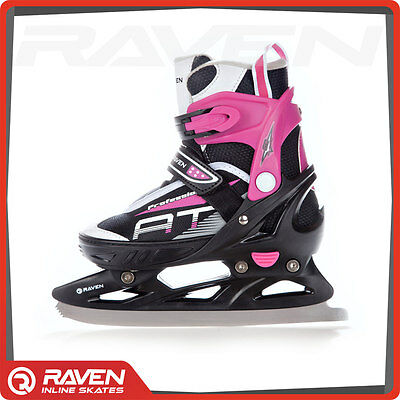 Pink 2in1 Adjustable Roller Blades Inline Skates Ice Skating Shoes UK Stock