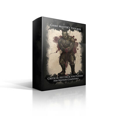 Critical Hit Deck for Players- 5th Edition Compatible - Games Master's Toolbox