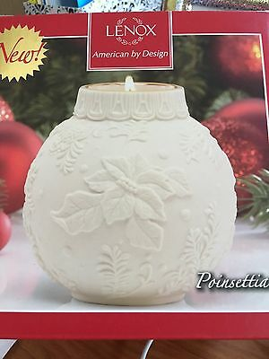 Lenox Holiday Ornamental Glow Poinsettia Votive New In Box