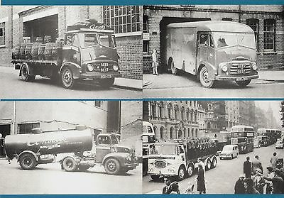 4 Truck Lorry Postcards ~ Brewery: Ansells & Scottish - Billingham Motor Cards