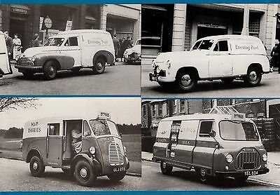 4 Postcards ~ Vans: Lancashire Evening News and M&P Dairies - Motor Cards