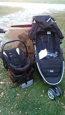 Britax B-Agile 3 Stroller & B-Safe 35 Car Seat Travel System Steel- Black. Z01