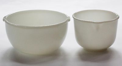 Vintage Glasbake for Sunbeam Mixmaster Bowls 20 CJ Large and Small (Opal)