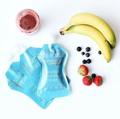 Squeeze Please REUSABLE FOOD POUCHES (6 Pack - 150ml)