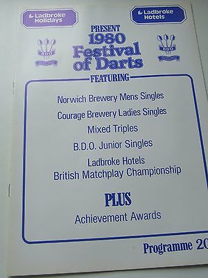 1980  Mint  Condition Ladbroke Holiday And Hotel Festival Of  Darts  Programme
