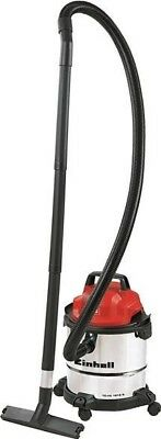 Einhell Wet & Dry Cylinder Vacuum Cleaner 1250W Stainless Steel 12L TC-VC 1812S