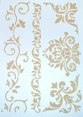 Wall Stencil  Reusable Stencils Template Flower Leaves Includes Brush No 17