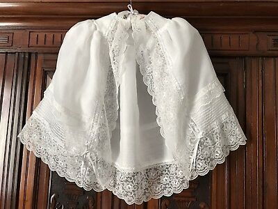 Beautiful Vintage Victorian Style Child's Christening Gown Cape
