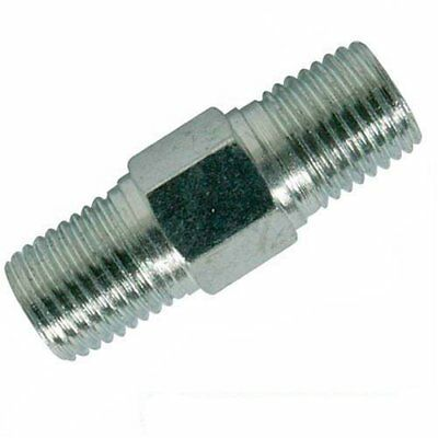 Silverline 868632 - 2 quick couplers L. 25 mm with two threaded ends 14