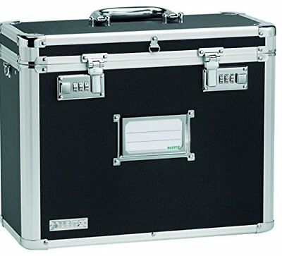 Leitz 67160195 Personal A4 Filing Case Robust Lockable, 366 x 178 x 322 mm - Bla