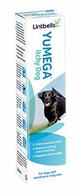 Lintbells YuMEGA Itchy Dog Supplement for dogs with itchy or sensitive skin 250