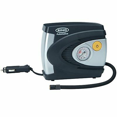 Ring RAC610 Analogue Tyre Inflator, 12V Air Compressor Tyre Pump, 4.5 Min Tyre I