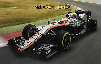 "McLaren Honda , Promo Card  2015  "" UNSIGNED "" Superb Quality"