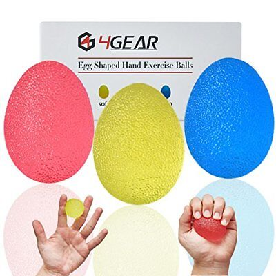 4GEAR Hand Stress Exercise Balls-Great for Hand, Finger, Grip Strengthening and