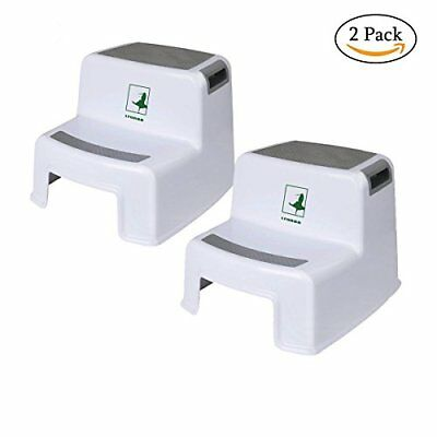 Toddler Step Stool - 2 Pack Two Step Stool for Kids - washstand step stool for k