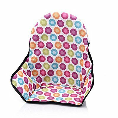 Baby Highchair Cushion Waterproof Infant High Chair Cover Multicolored dots M