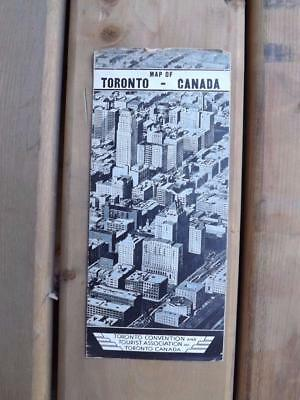 Map Of Toronto Canada Convention And Tourist Association Advertising 1932