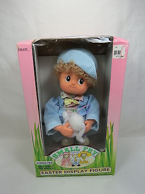 Vintage Telco Small Fry Easter Display Figure in Box Boy w/ Bunny Rare! S3 3