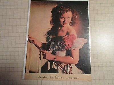 Vintage  1940 Shirley temple pin up poster Hollywood star 8 1/2 x 11