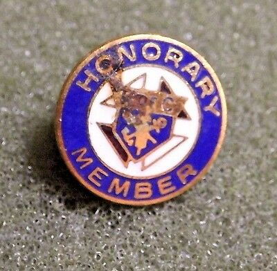 Honorary Member Knights Of Columbus Lapel Pin Back Vintage Catholic Fraternal