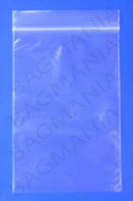 """1.25/"""" x 2/"""" 100 Clear Recloseable Bags Size 31mm x 50mm 2 Mil Thickness"""