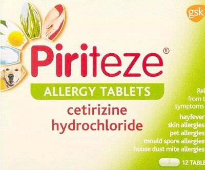 5 x Piriteze Allergy One a Day Antihistamines.£2 Per Pack! 70% OFF ! Cheapest!