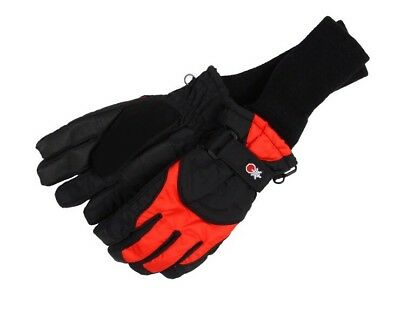 Tundra Boots Snow Stopper Gloves Red Black Size Large Kids Unisex New