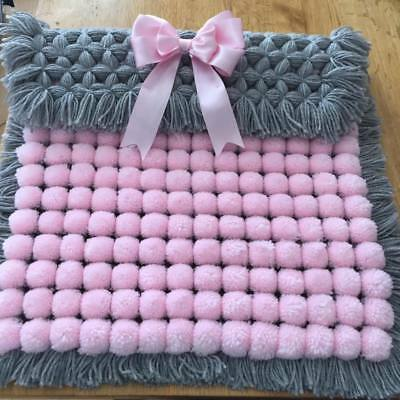 Pom Pom Blanket Ideal Baby gift