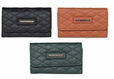 Rampage Tri-Fold Quilted Detail Credit Card Organizer Women's Wallet