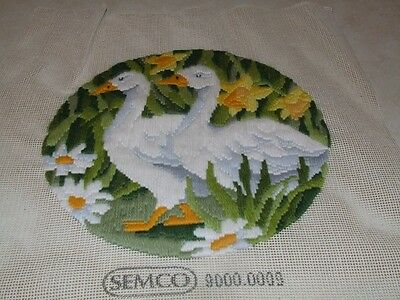Long Stitch - White Ducks - Completed
