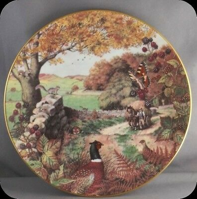 Peter Barrett Dalesmans Autumn Collector Plate All Creatures Great & Small Oct