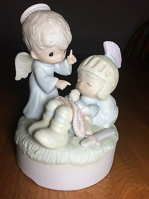 "Precious Moments E5642 ""Silent Night"" Musical Figurine - highly sought after"