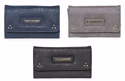 Rampage Tri-Fold Wallet with Stud Detail Suede Faux Leather Exclusive Wallet