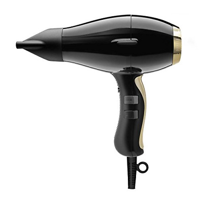 ELCHIM 3900 Healthy Ionic Hairdryer, Black/Gold