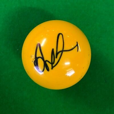 Anthony Mcgill Hand Signed Yellow Snooker Ball.
