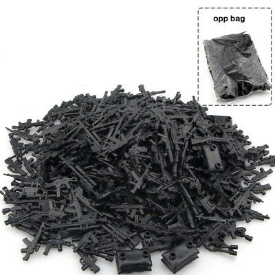 200pcs custom LEGO Minifigure Toy Guns Military Minifigure Weapon Army lot