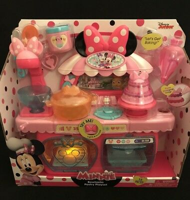 Disney Minnie Mouse Bowtastic Pastry Playset Kitchen Baking Set Toy Store Gift