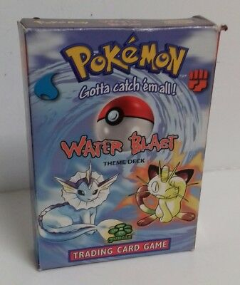POKEMON - Trading Card Game Water Blast Theme Deck 1999 Rare Collectors Cards