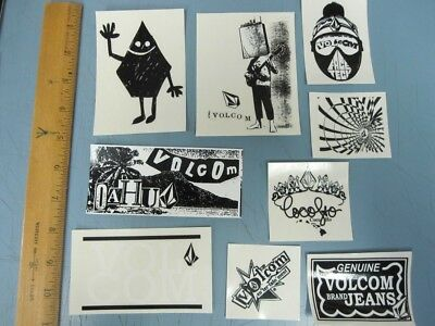 VOLCOM surf skateboard snowboard 9 sticker set Mint Condition New Old Stock