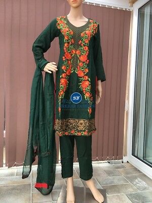Readymade Lilen Suit Embroidered Gul Ahmed Indian Pakistani
