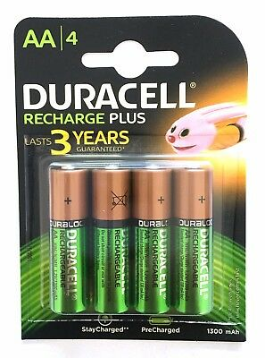 Duracell AA Rechargeable Batteries NiMH 1300mAh Stay Charge HR06 Duralock