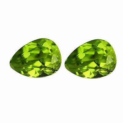 PERIDOT [CHRYSOLITE]  MATCHING PAIR NATURAL STONES TOTAL 2.56Ct